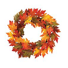 "Gerson 24"" Maple Leaf Wreath"