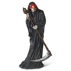 """Gerson 26.8"""" Tall Battery Operated Grim Reaper with Scythe"""