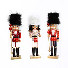 Gerson 3-piece Wood Nutcracker Figurine Set