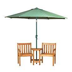 "Gerson 65""L Wooden Jack and Jill Patio Set"