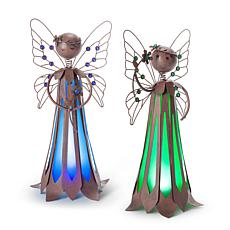 "Gerson Company 15.75"" Solar Lighted Garden Meadow Fairy 2-pack"