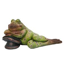 Gerson Magnesium Reclining Frog Figurine