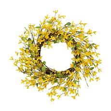 Gerson Natural Twig Forsythia Wreath - Yellow