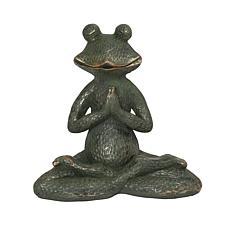 Gerson Verdigris and Gold Magnesium Yoga Frog Figurine