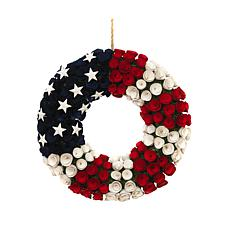 Gerson Wood and Twig Americana Rose Wreath
