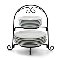 Gibson Elite Gracious Dining 13 Piece Ceramic Serving Plate Set wit...