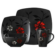 Gibson Evening Blossom 16-piece Dinnerware Set