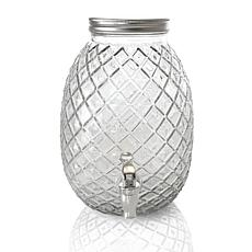 Gibson Home 1.2 Gallon Pineapple Clear Glass Drink Dispenser