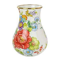 "Gibson Home Ankara 8.7"" Enamel on Steel Vase with Gold Rim"