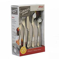 Gibson Home Blair 20-Piece Stainless Steel Flatware Set