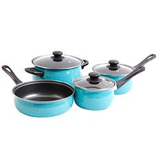 Gibson Home Caden Life Essentials 7-piece Cookware Set in  Turquoise