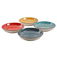 Gibson Home Color Speckle  4-piece Pasta Bowl Set
