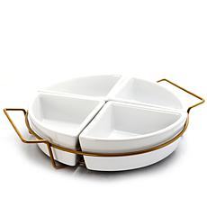 Gibson Home Elite Memories 4-Section Tidbit Dish Set