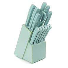 Gibson Home Plaza Cafe 14-piece Cutlery Set in Light Blue