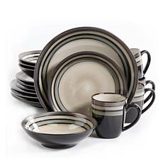 Gibson Lewisville 16-piece Dinnerware Set - Gray