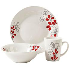 Gibson Scarlet Leaves 12-piece Dinnerware Set