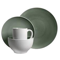 Gibson Serenity Gray 16pc Dinnerware Set