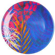 "Gibson Tropical Rains 4-piece 9"" Melamine Dessert Plate Set"