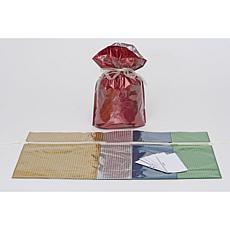 Giftmate 10-Piece Drawstring Medium Gift Bag Hologram Set