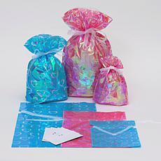 Giftmate 12-Piece Drawstring Hearts Gift Bag Set