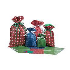 GiftMate 18-Piece Polka Dot Big Gift Bag with Tag Set