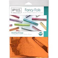 """Gina K Designs Fancy Foil 6"""" x 8"""", 12 Pack - Dazzling Orange Hologr..."""
