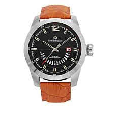 Giorgio Milano Black Dial Orange Croco Leather Watch
