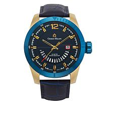 Giorgio Milano Blue Dial Navy Croco Leather Watch