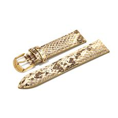 Giorgio Milano Goldtone Python-Look Leather Watch Strap