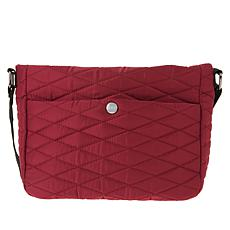 Girlfriend Gear Diamond Quilt Crossbody Travel Bag