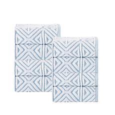 Glamour Turkish Cotton  4-piece Wash Cloth Set