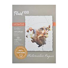 Global Art Fluid 100 Watercolor Paper EZ Blocks ColdPress 12x16  140lb