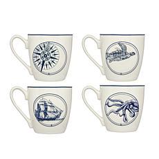 Godinger Coastal Mug 4-Pack
