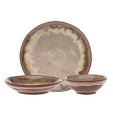 Godinger Eastwood Reactive Glaze 12-Piece Dinnerware Set Service For 4