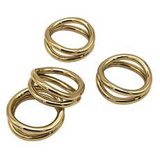 Godinger Gold Loop Napkin Ring - Set Of 4