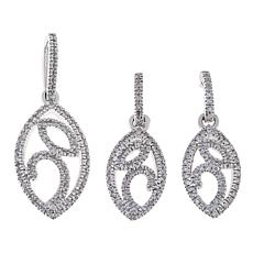 Gold & Diamond Source® Diamond Earrings & Pendant Set
