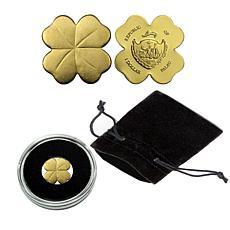 Golden Four-Leaf Clover .9999 Gold $1 Palau Coin