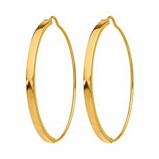 Golden Treasures 14K Gold Endless Wire Hoop Earrings