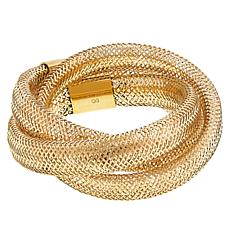 Golden Treasures 14K Italian Gold Flexible Twist Ring