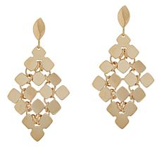 Golden Treasures 14K Italian Gold Mosaic Earrings