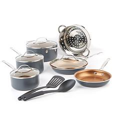 Gotham Steel Max HSN-Exclusive 12 piece Nonstick Cookware Complete Set