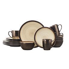 Gourmet Basics by Mikasa Anastasia Cream 16-Piece Dinnerware Set