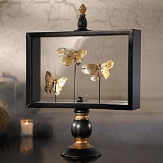 Grandin Road Butterfly Glass Display - Large