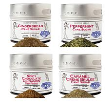 Gustus Vitae Holiday Flavors 4-pack of Gourmet Cane Sugar