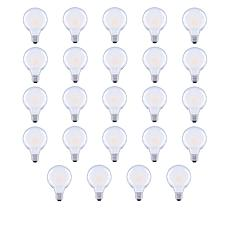 GVL 60-Watt G25 Soft White LED Bulbs 24-pack with Frosted Finish