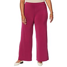 H Halston Jet Set Jersey Wide Leg Pull-On Pant