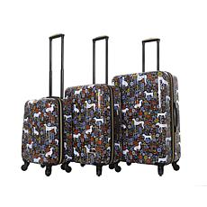 Halina Vicky Yorke Urban Jungle Dogs 3-piece Luggage Set