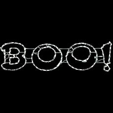 Halloween Giant Outdoor LED Lights  BOO Sign (63 x 16 inches)