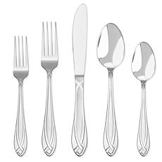 HamptonSignature™ LaceFrosted 54pc Flatware Set for 8 w/ 5pc Serve ...