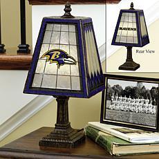 Handpainted Art Glass Team Lamp - Baltimore Ravens